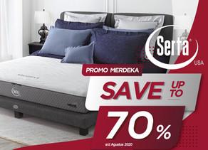 Up to 70% OFF   Harga Promo Serta Spring Bed   Agustus 2020