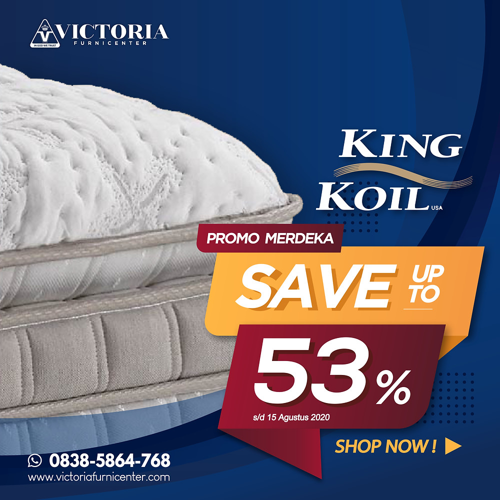 Up to 53% OFF | Harga Promo King Koil Spring Bed | Agustus 2020