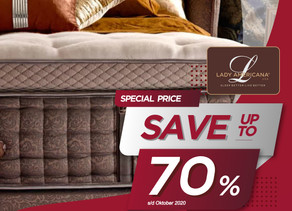 Up to 70% OFF | Harga Promo Lady Americana Spring Bed | Oktober 2020