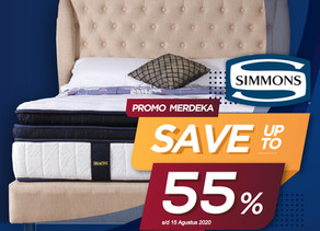 Up to 55% OFF   Harga Promo Simmons Spring Bed   Agustus 2020