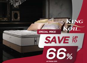Up to 66% OFF | Harga Promo King Koil Spring Bed | Oktober 2020