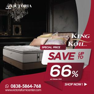 Up to 66% OFF   Harga Promo King Koil Spring Bed   Oktober 2020