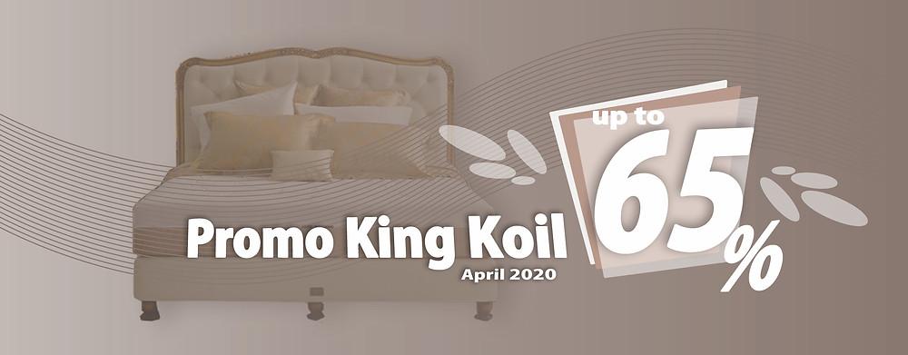 Promo King Koil Spring Bed Surabaya terbaru per Bulan April 2020, diskon harga spring bed hingga 65% pada tipe-tipe tertentu. Pengiriman Free Ongkir kota-kota tertentu di Jawa Timur, sampai ke rumah dipasangkan hingga ke kamar. Hubungi Kami via WhatsApp di 08385864768!