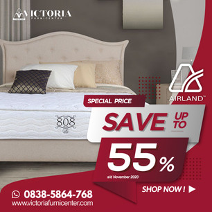 Up to 55% OFF | Harga Promo Terbaru AIRLAND November 2020 Spring Bed Diskon Kasur Matras Springbed