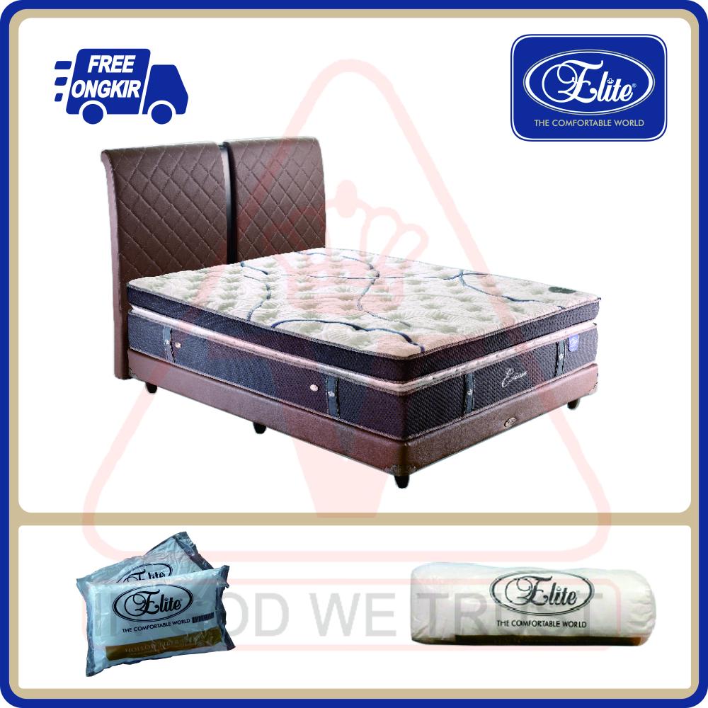 """Rekor MURI """"spring bed yang dapat menahan orang berdiri terbanyak, 76 orang, dengan bobot kurang lebih sebesar 4,1 ton; mengukuhkan Estima sebagai spring bed berdaya tahan maksimal. Estima merupakan produk yang mengesankan sekaligus membanggakan untuk Anda yang berprestasi dan mendambakan kualitas tidur yang sempurna."""