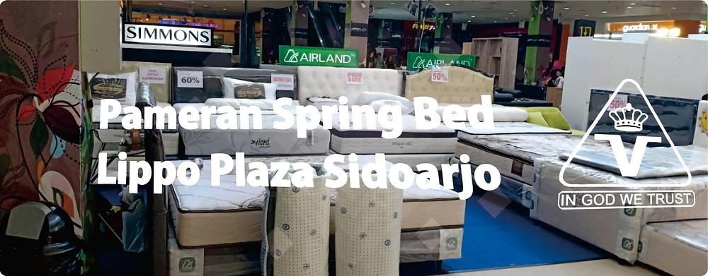 Pameran Airland Bed murah meriah di Lippo Plaza Sidoarjo April Mei 2018