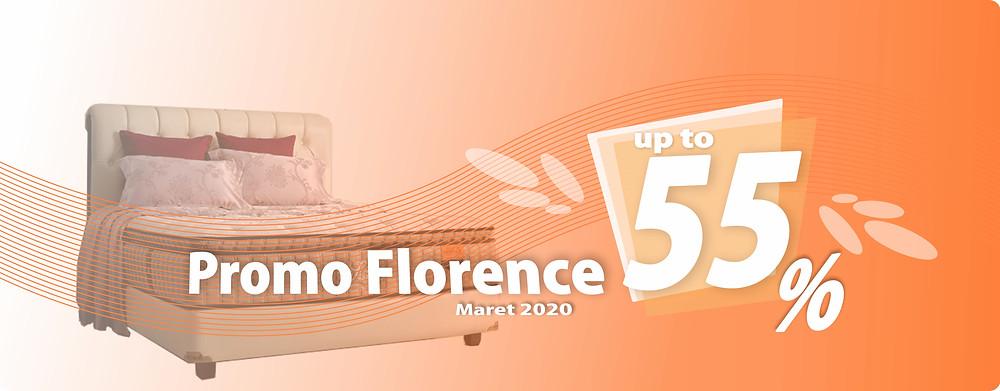 Promo Florence Spring Bed Surabaya terbaru per Bulan Maret 2020, diskon harga spring bed hingga 55% pada tipe-tipe tertentu. Pengiriman Free Ongkir kota-kota tertentu di Jawa Timur, sampai ke rumah dipasangkan hingga ke kamar. Hubungi Kami via WhatsApp di 08385864768!