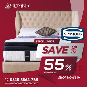 Up to 55% OFF | Harga Promo Terbaru SIMMONS November 2020 Spring Bed Diskon Kasur Matras Springbed