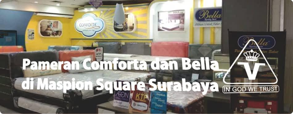 Pameran Comforta dan Bella Spring Bed di Maspion Square bersama Victoria Furnicenter