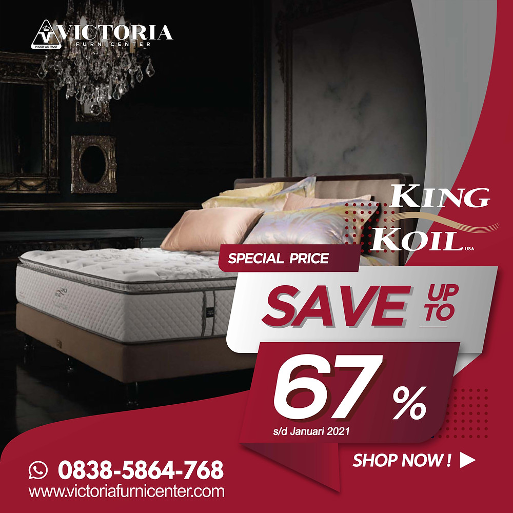 Harga Promo Terbaru KING KOIL Januari 2021 Spring Bed Diskon Kasur Matras