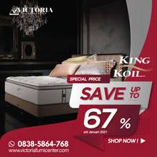 Up to 67% OFF | Harga Promo Terbaru KING KOIL Januari 2021 Spring Bed Diskon Kasur Matras