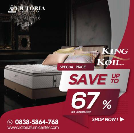Up to 67% OFF   Harga Promo Terbaru KING KOIL Januari 2021 Spring Bed Diskon Kasur Matras