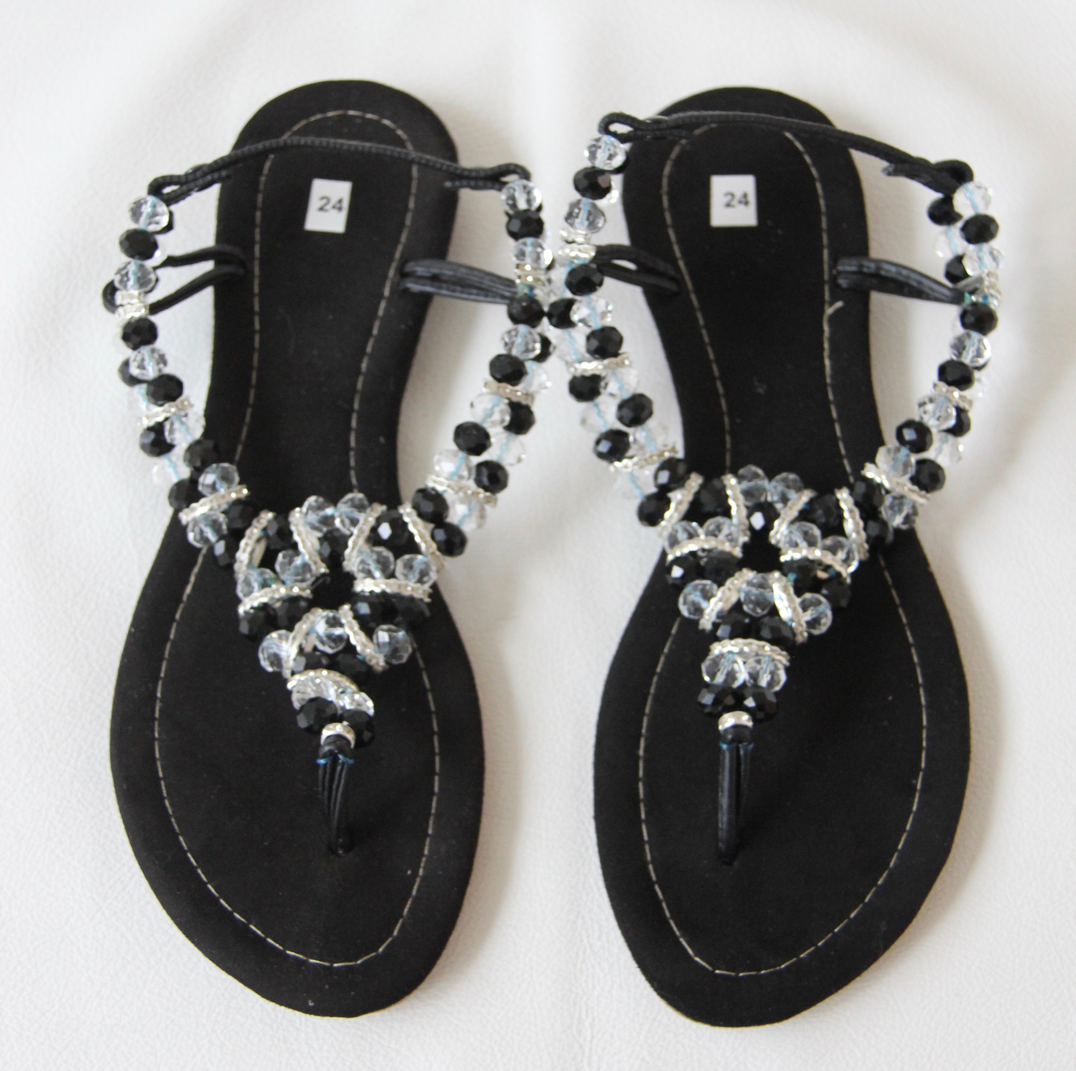 Sandals made by the women