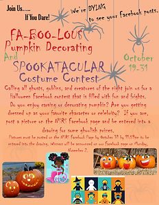 1 Pumpkin Decorating and Costume Contest