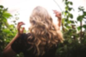 Blonde Wavy Hair in Sunlight