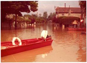 Inondation vue avenue Robert Philippot