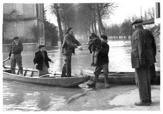 Inondation vue avenue Georges Cruzel