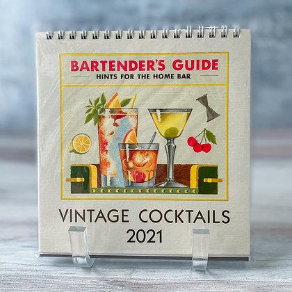 Vintage Cocktails Desk Calendar