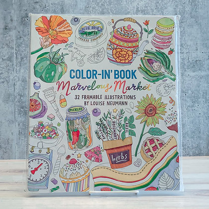 Color-in Book - Marvelous Market