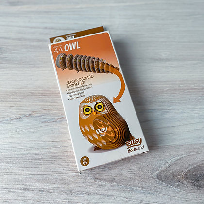 Eugy Owl 3D Model/Puzzle