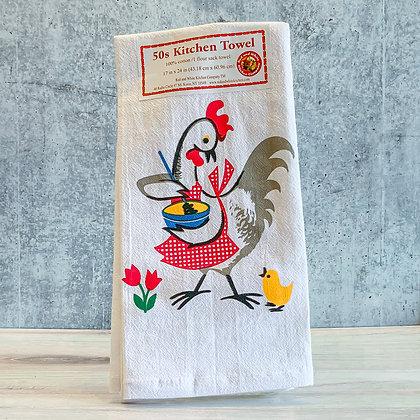 50s Kitchen Chicken Towel