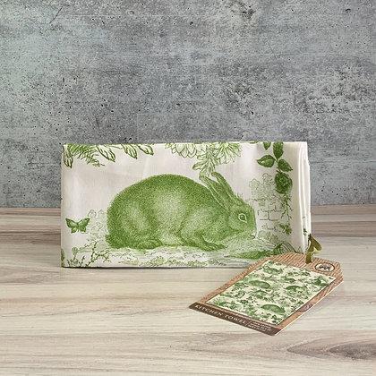 Bunny Toile Kitchen Towel