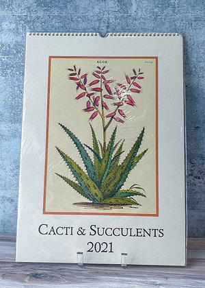 Cacti & Succulents Wall Calendar - 2021