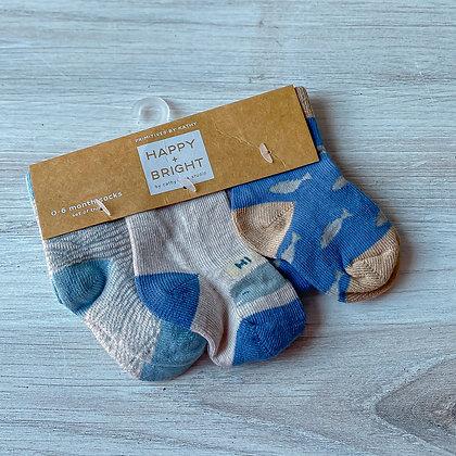 Newborn Sock Set - Sea Blue