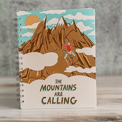 """""""The Mountains Are Calling"""" Spiral Notebook"""