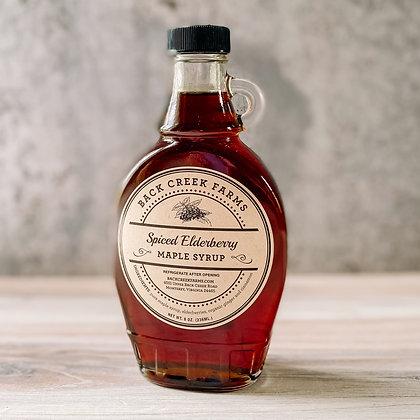 Spiced Elderberry Maple Syrup 8oz