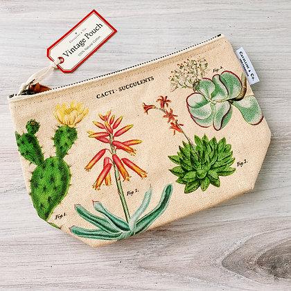 Vintage Pouch - Cacti & Succulents