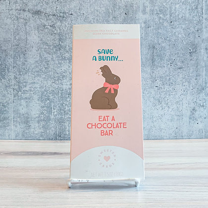 Save a Bunny Easter Card with Chocolate Bar