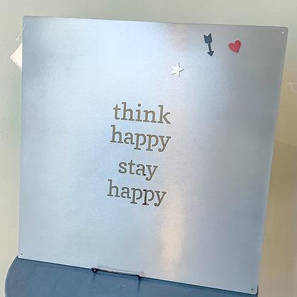 Metal Wall Art - Think Happy
