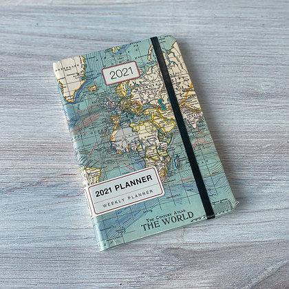 Vintage Maps Weekly Planner - 2021
