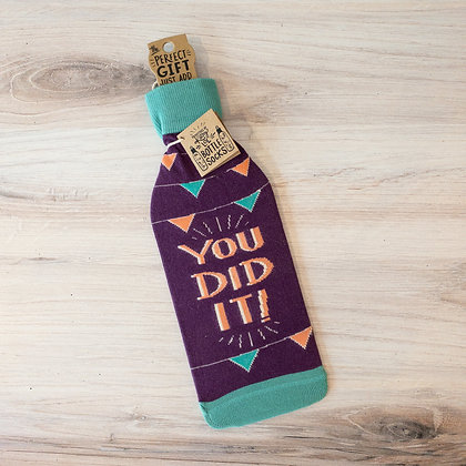 You Did It! Bottle Sock