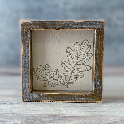 Wooden Leaf and Acorn Signs