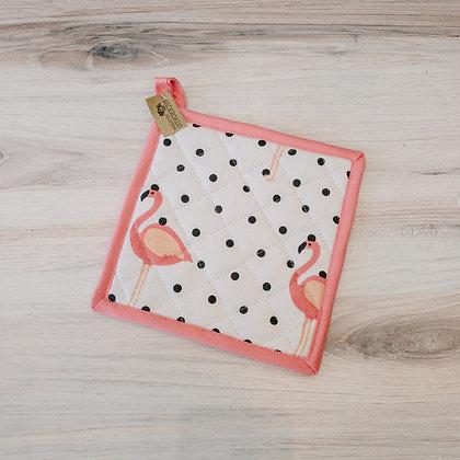 Flamingo Polka-Dot Pot Holder
