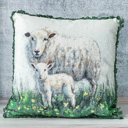 Sheep and Lamp Pillow