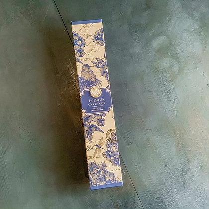 Indigo Cotton Scented Drawer Liners