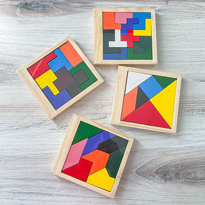 Wooden Tangram Puzzles