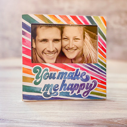 "Plaque Frame - ""You Make Me Happy"""