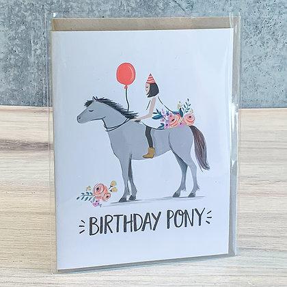 Birthday Pony Card