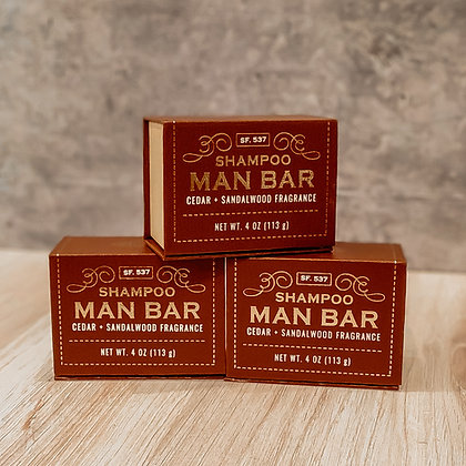 Shampoo Man Bar - Cedar & Sandalwood
