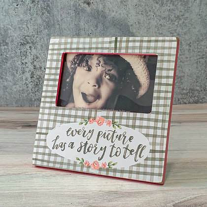 """Plaque Frame - """"Every Picture Has a Story to Tell"""""""