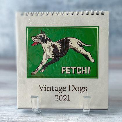 Vintage Dogs Desk Calendar - 2021