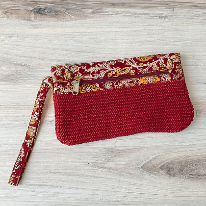 Brick Red Leyla Wristlet