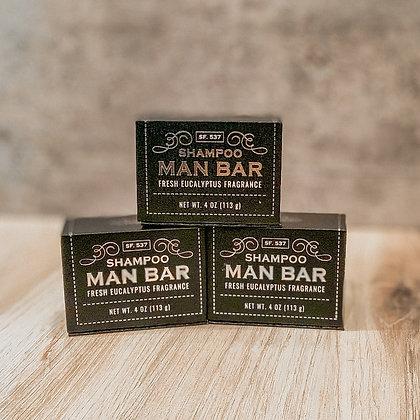 Shampoo Man Bar - Fresh Eucalyptus