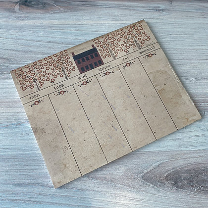 Home Weekly Planning Notepad