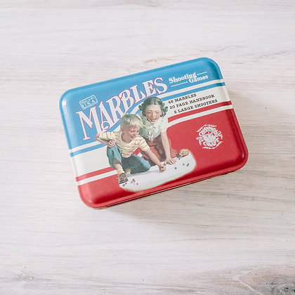 Marbles in Classic Toy Tin