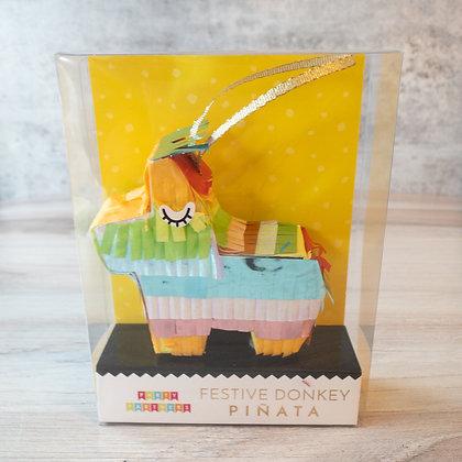 Festive Donkey Mini Piñata